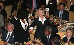 David Rockefeller, Oprah Winfrey, Kofi Annan and Hillary Clinton attends the United Nations Association of USA Global Leadership Dinner honoring Oprah Winfrey with the Global Humanitarian Action Award at the Waldorf Astoria Hotel in New York City.<br />September 30, 2004