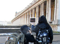 Pictured: Movie lovers Tiia Ohman and Satu Walden on locations during their project<br />