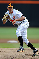 Starting Pitcher Brandon Zajac #37delivers a pitch during a  game against the Kentucky Wildcats at Lindsey Nelson Stadium on March 24, 2012 in Knoxville, Tennessee. The game was suspended in the bottom of the 5th with the Wildcats leading 5-0. Tony Farlow/Four Seam Images.