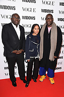 """Edward Enninful and Steve McQueen<br /> arriving for the """"Widows"""" special screening in association with Vogue at the Tate Modern, London<br /> <br /> ©Ash Knotek  D3457  31/10/2018"""
