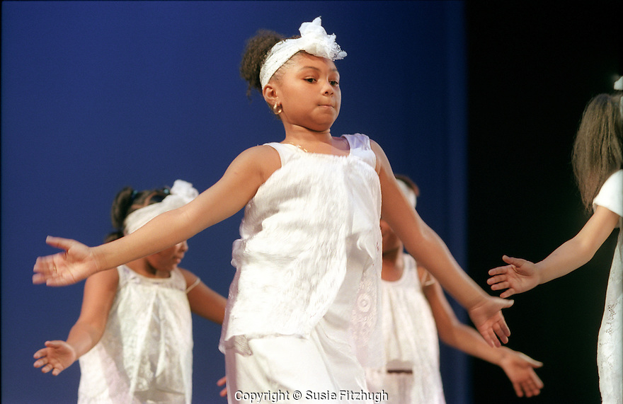 Arts Corps participants perform in end-of-quarter performances at Youngstown Cultural Arts Center, Seattle.
