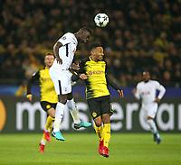21.11.2017, Football UEFA Champions League 2017/2018,  , 5. match day, Borussia Dortmund - Tottenham Hotspur, Signal-Iduna-Park Dortmund.  Davinson Sanchez (Tottenham Hotspur)  -  Pierre-Emerick Aubameyang (Dortmund)  *** Local Caption *** © pixathlon<br /> <br /> +++ NED + SUI out !!! +++<br /> Contact: +49-40-22 63 02 60 , info@pixathlon.de