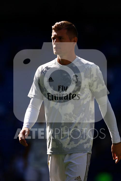Real Madrid CF's Toni Kroos  during the Spanish La Liga match round 8 between Real Madrid and Granada CF at Santiago Bernabeu Stadium in Madrid, Spain