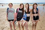 Enjoying the afternoon on Ballybunion beach on Sunday, l to r: Sadie Ryan, Samatha Downey, Erica McSherry and Ava Walsh (All Ballybunion).