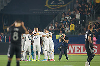 CARSON, CA - SEPTEMBER 15: Los Angeles Galaxy starting eleven during a game between Sporting Kansas City and Los Angeles Galaxy at Dignity Health Sports Complex on September 15, 2019 in Carson, California.