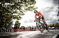 Lars Boven (NED) off the start ramp<br /> at the Men Junior Individual Time Trial<br /> <br /> 2019 Road World Championships Yorkshire (GBR)<br /> <br /> ©kramon