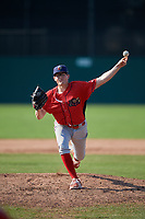 Williamsport Crosscutters starting pitcher David Parkinson (25) delivers a pitch during the second game of a doubleheader against the Batavia Muckdogs on August 20, 2017 at Dwyer Stadium in Batavia, New York.  Batavia defeated Williamsport 4-3.  (Mike Janes/Four Seam Images)