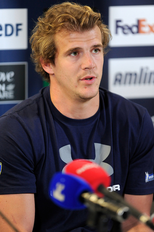 Aurelien Rougerie of ASM Clermont Auvergne, at the Captain's Run press conference before the Heineken Cup Final at the Aviva Stadium, Dublin on Friday 17th May 2013 (Photo by Rob Munro).