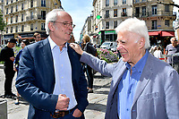 Maxime LE FORESTIER, Guy BEDOS - Inauguration Place Georges Moustaki - 23/5/2017 - Paris - France
