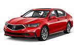 2018 Acura RLX Base 4 Door Sedan angular front stock photos of front three quarter view