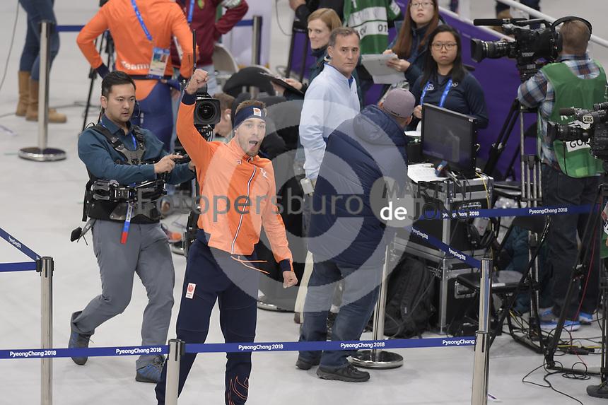 OLYMPIC GAMES: PYEONGCHANG: 13-02-2018, Gangneung Oval, Long Track, 1500m Men, Olympic Champion, Kjeld Nuis (NED), ©photo Martin de Jong