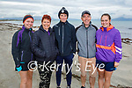 The Coughlan family from Killarney enjoying a stroll on Ballyheigue beach on Saturday, l to r: Orla, Eoin, Ger, Clodagh and Eileen Coughlan.