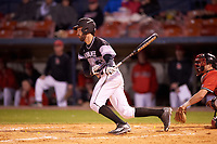 Wisconsin-Milwaukee Panthers left fielder Cole Heili (30) at bat during a game against the Ball State Cardinals on February 26, 2016 at Chain of Lakes Stadium in Winter Haven, Florida.  Ball State defeated Wisconsin-Milwaukee 11-5.  (Mike Janes/Four Seam Images)
