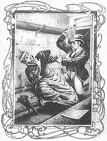 BNPS.co.uk (01202) 558833.<br /> Pic: JanBondeson/HistoryPress/BNPS<br /> <br /> Pictured: A sketch of the murder of Elizabeth Camp.<br /> <br /> A historian believes he has solved the gruesome 124 year old murder of a barmaid on a London train.<br /> <br /> Elizabeth Camp was travelling to Waterloo station when she was murdered on February 11, 1897.<br /> <br /> The 33 year old's battered body was found by a carriage cleaner with her head wedged underneath a seat and her legs outstretched on the floor.<br /> <br /> Over a century later, historian Dr Jan Bondeson has pored over the evidence in the case, including police files, to try and identify her killer.<br /> <br /> He believes the person responsible for her brutal death was 25 year old Arthur Marshall, the son of a Reading publican, and has outlined his theory in his new book, Rivals of the Ripper.