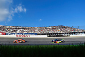 #19: Daniel Suarez, Joe Gibbs Racing, Toyota Camry ARRIS and #88: Alex Bowman, Hendrick Motorsports, Chevrolet Camaro Axalta