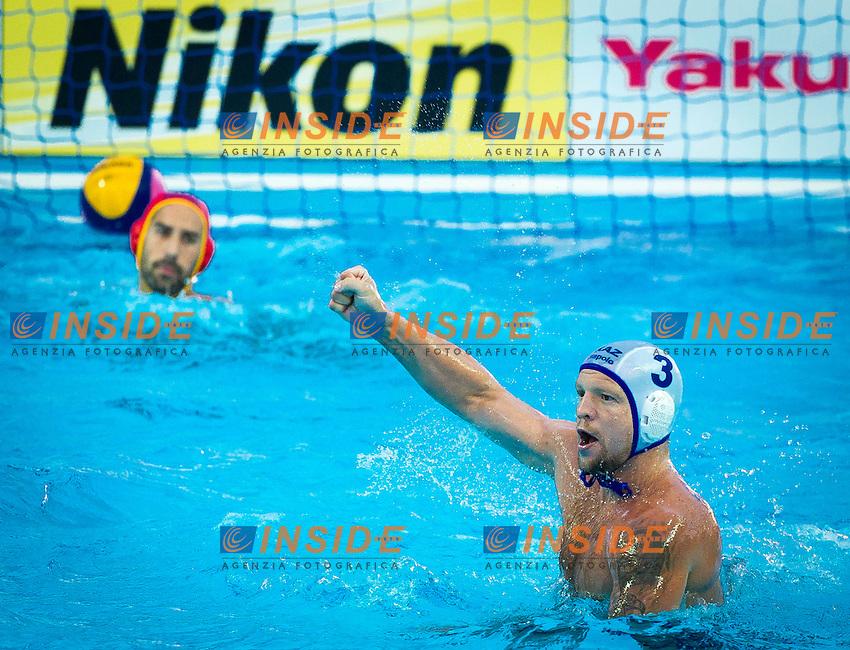 KAZ - MNE<br /> Kazakistan Vs Montenegro<br /> AXENOV Alexandr KAZ<br /> Day 10 02/08/2015<br /> XVI FINA World Championships Aquatics<br /> Waterpolo<br /> Kazan Tatarstan RUS July 24 - Aug. 9 2015 <br /> Photo Pasquale Mesiano/Deepbluemedia/Insidefoto