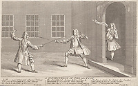 BNPS.co.uk (01202 558833)<br /> Pic: AmberleyBooks/BNPS<br /> <br /> The 1731 duel between MPs William Pulteney and Lord Hervey.<br /> <br /> These full-blooded political skirmishes of a bygone age make today's Brexit infused disorder in the Commons seem almost tame by comparison.<br /> <br /> Historian Eugene Wolfe has charted the history of discord in British politics over the past 400 years in his new book, Parliamentary Violence in the United Kingdom.<br /> <br /> He has listed over 800 incidents were tensions have got out of hand, with some leading to sword duels between MPs and brawls on the floor.<br /> <br /> One former prime minister, William Pitt, even challenged a political rival to a gun duel on Putney Heath.