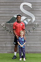 Ethan Laird, who has signed a contract with Swansea City AFC, at Fairwood Training Ground near Swansea, Wales, UK. Sunday 15 August 2021