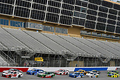 NASCAR Xfinity Series<br /> Rinnai 250<br /> Atlanta Motor Speedway, Hampton, GA USA<br /> Saturday 24 February 2018<br /> Christopher Bell, Joe Gibbs Racing, Ruud Toyota Camry and Kevin Harvick, Stewart-Haas Racing with Biagi-Denbeste Racing, Hunt Brothers Pizza Ford Mustang<br /> World Copyright: Nigel Kinrade<br /> NKP / LAT Images
