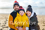 John, Mikey and Jackie Fitzgerald enjoying the day on Ballyheigue beach on New Years Day.