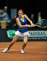Arena Loire,  Trélazé,  France, 16 April, 2016, Semifinal FedCup, France-Netherlands, First match: Caroline Garcia (FRA)<br /> Photo: Henk Koster/Tennisimages