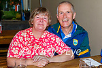 Enjoying the evening in Gally's on Saturday, l to r: Ann and Dan McCarthy from Manor Village.