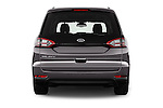 Straight rear view of 2016 Ford Galaxy Titanium 5 Door Minivan Rear View  stock images