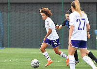 Kassandra Missipo (12 Anderlecht) pictured during a female soccer game between Club Brugge Dames YLA and RSC Anderlecht Ladies on the fifth matchday of the 2020 - 2021 season of Belgian Scooore Womens Super League , sunday 18 October 2020  in Brugge , Belgium . PHOTO SPORTPIX.BE | SPP | DAVID CATRY