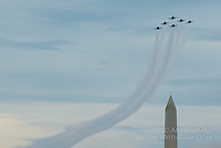 Blue Angels at the Washington Monument by Art Harman