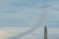 Blue Angels at the Washington Monument by Art Harman