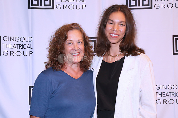 NEW YORK, NY- SEPTEMBER 14: Karen Ziemba and Nicole King attend the photo call for the Off-Broadway play Mrs. Warren's Profession, held at the Ginghold Theatrical Group, on September 14, 2021, in New York City. Credit: Joseph Marzullo/MediaPunch