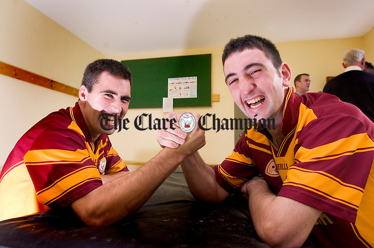 Tulla hurling team for County Final.Pic Arthur Ellis...Brothers Conor and Danny O'Halloran.
