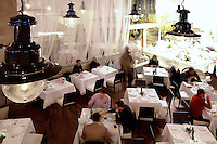 interior of the restaurant Milos Restaurant New York City