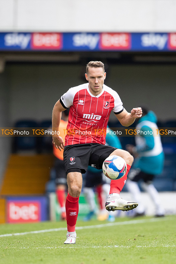 Chris Hussey, Cheltenham Town lays the ball off during Southend United vs Cheltenham Town, Sky Bet EFL League 2 Football at Roots Hall on 17th October 2020