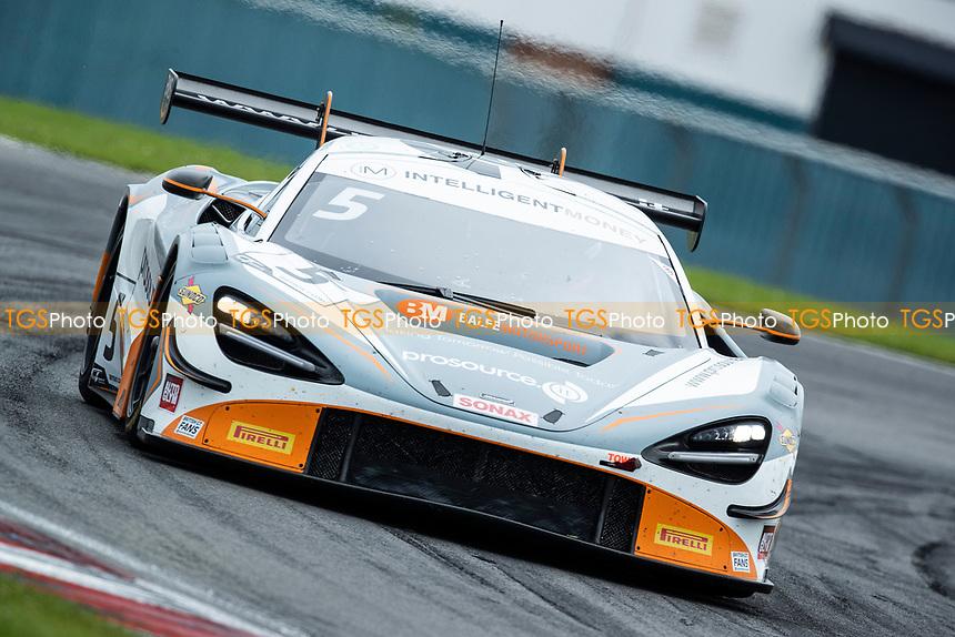 Stewart Proctor & Lewis Proctor, McLaren 720S GT3, Balfe Motorsport exit Goddards during the British GT & F3 Championship on 10th July 2021