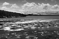 """Mt. Sheridan Over Ice""  Yellowstone National Park  West Thumb, Yellowstone Lake 