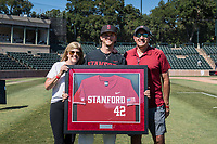 STANFORD, CA - MAY 29: Austin Weiermiller and family after a game between Oregon State University and Stanford Baseball at Sunken Diamond on May 29, 2021 in Stanford, California.