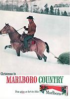 Marlboro cigarette ad, Leo Burnett Agency, 1964. Photo by John G. Zimmerman.