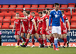 St Johnstone v Aberdeen…10.04.21   McDiarmid Park   SPFL<br />Jonny Hayes celebrates his goal<br />Picture by Graeme Hart.<br />Copyright Perthshire Picture Agency<br />Tel: 01738 623350  Mobile: 07990 594431