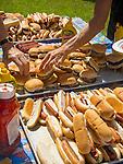 1st Congregational Church picnic, Madison, CT. Hamburgers and hotdogs.