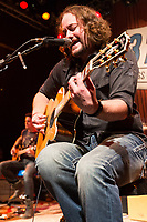 """Guitarist Chet Roberts of 3 Doors Down performs on stage during the acoustic """"Songs From the Basement"""" tour at the House of Blues on Tuesday January 14, 2014 in Los Angeles, CA. (Photo by: Paul A. Hebert / Press Line Photos)"""
