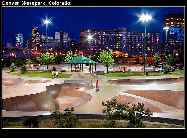 Connected by one of Denver's numerous bikepaths.<br />