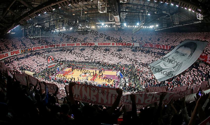 Delije navijaci Marko Ivkovic Arena Total Euroleague basketball game Crvena Zvezda - Galatasaray 16. Januar 2015. (credit image & photo: Pedja Milosavljevic / STARSPORT).