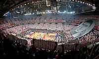 Delije navijaci Marko Ivkovic Arena Total Euroleague basketball game Crvena Zvezda - Galatasaray 16. Januar 2015. (credit image & photo: Pedja Milosavljevic / STARSPORT).