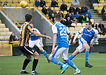 East Fife v St Johnstone…29.07.17… Bayview… Pre-Season Friendly<br />Joe Shaughnessy's header is saved by keeper Ryan Goodfellow<br />Picture by Graeme Hart.<br />Copyright Perthshire Picture Agency<br />Tel: 01738 623350  Mobile: 07990 594431