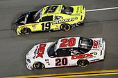 #19: Brandon Jones, Joe Gibbs Racing, Toyota Supra Menards/Pelonis, #20: Harrison Burton, Joe Gibbs Racing, Toyota Supra DEX Imaging