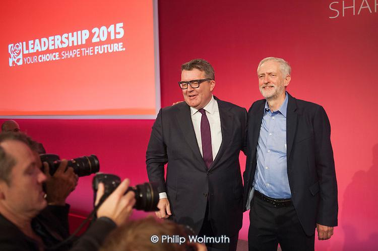 Tom Watson & Jeremy Corbyn win Labour Party leadership elections Westminster London