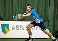 Rotterdam, Netherlands, Januari 24, 2016,  ABNAMROWTT Supermatch, Patrick Speelman (NED)<br /> Photo: Tennisimages/Henk Koster