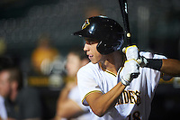 Bradenton Marauders shortstop Cole Tucker (18) on deck during a game against the Palm Beach Cardinals on August 9, 2016 at McKechnie Field in Bradenton, Florida.  Palm Beach defeated Bradenton 8-7.  (Mike Janes/Four Seam Images)