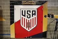 Seattle, WA - Thursday June 16, 2016: United States locker room prior to a Copa America Centenario quarterfinal match between United States (USA) and Ecuador (ECU) at CenturyLink Field.